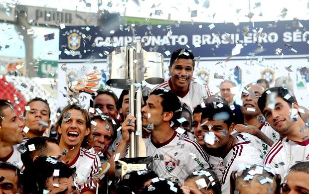 Fred fluminense comemoração campeão brasileiro 2012 (Foto: André Durão / Globoesporte.com)