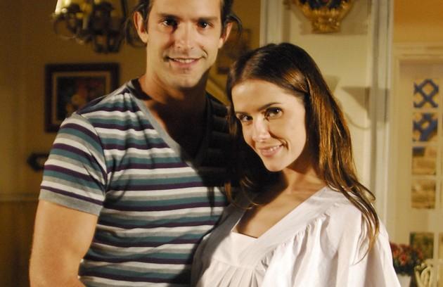 Com Iran Malfitano em 'A favorita', novela que foi ao ar em 2008 (FOTO: Thiago Prado Neris/TV Globo)