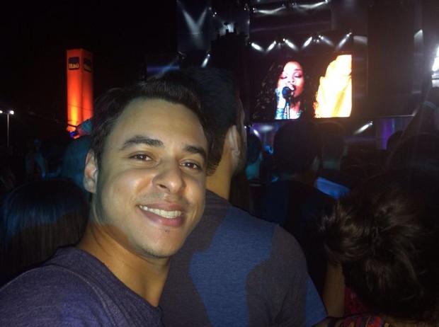 Rafael Santomes no Rock in Rio (Foto: Reprodução/Facebook)