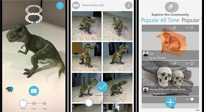 123D Catch cria modelos 3D editáveis para que usuários possam fazer criações (Foto: Divulgação/Windows Phone Store)