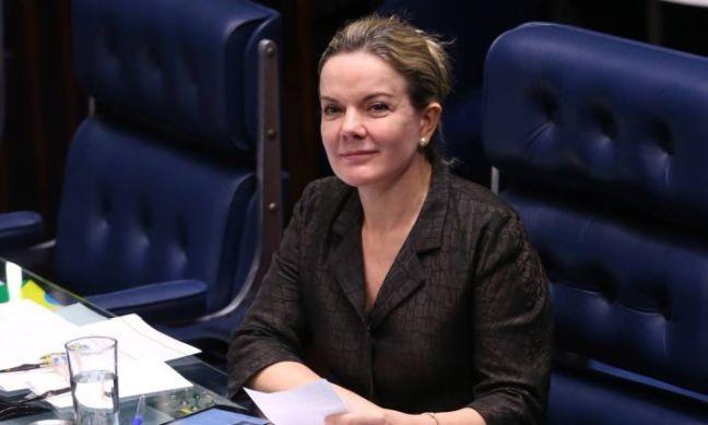 A senadora Gleisi Hoffmann (PT-PR) (Foto: Ailton de Freitas / Agência O Globo)