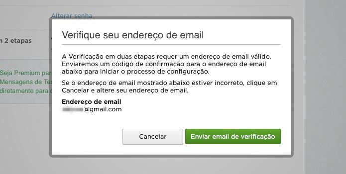 Confirmando endereço de e-mail (Foto: Reprodução/Helito Bijora)