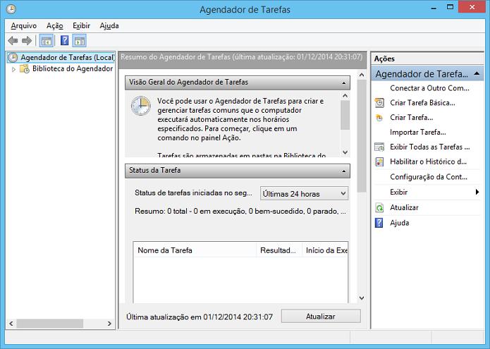 Agendador de Tarefas permite automatizar algumas atividades no Windows (Foto: Reprodução/Edivaldo Brito)