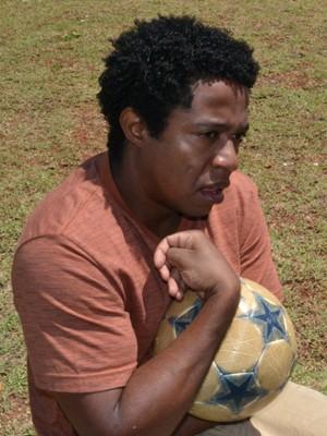 Pedro em uma das cenas do filme como Clodoaldo (Foto: Flávio Rocha)