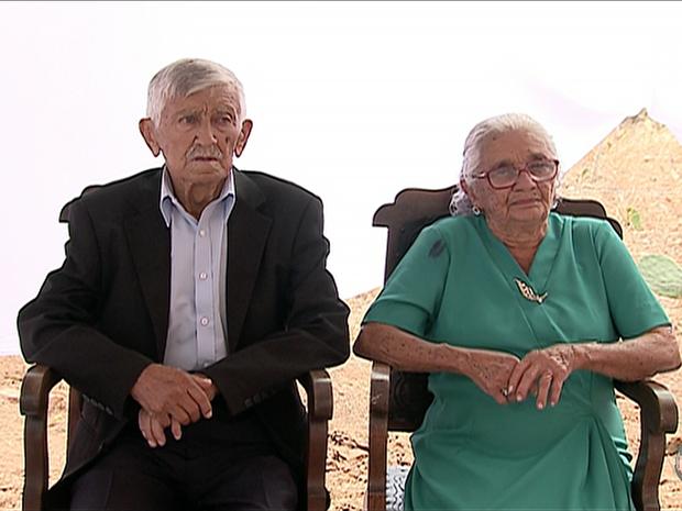 Henrique e Severina começaram a namorar em 1945 e estão casados há 70 anos (Foto: Reprodução/TV Asa Branca)
