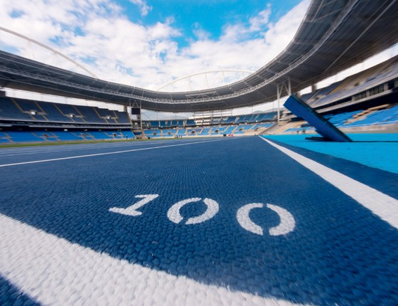 Pista de atletismo do Parque Olímpico (Foto:  )