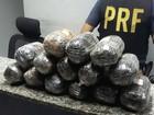 PRF flagra 14 kg de haxixe em carro transportado por caminhão-cegonha