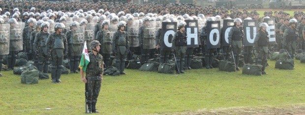Tropas do Exército só agirão em protestos em caso de pedido do governo do estado à Presidência da República (Foto: Rafaella Fraga/G1)