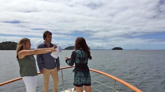 Foto sugere que Marina ameaça Tiago no final de 'A Lei do Amor'