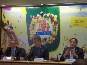 Ministério da Saúde lançou campanha para sexo seguro no Carnaval (Foto: Filipe Matoso/G1)
