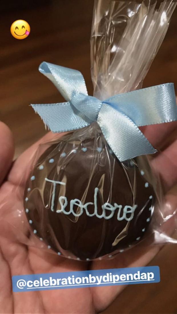 Lembrancinha do nascimento de Teodoro (Foto: Reprodução/Instagram)