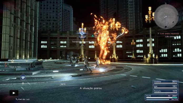 Use translocações para causar muito dano em Final Fantasy XV (Foto: Reprodução/Murilo Molina)
