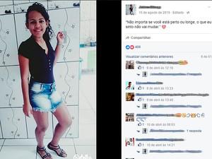 Adolescente tinha 16 anos e estava grávida. Barra do Mendes, Bahia (Foto: Reprodução Facebook)