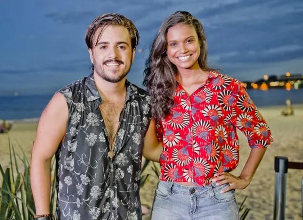 Marco Esteves e Aline Dias (Foto: Mariana Ares)