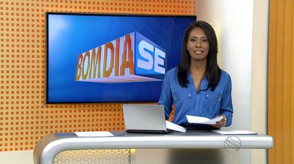 Maristela Niz apresenta o Bom Dia Sergipe dessa segunda-feira (Foto: Divulgação / TV Sergipe)