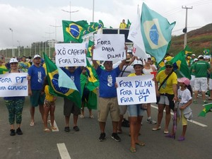Manifestação em São Luís (Foto: G1)