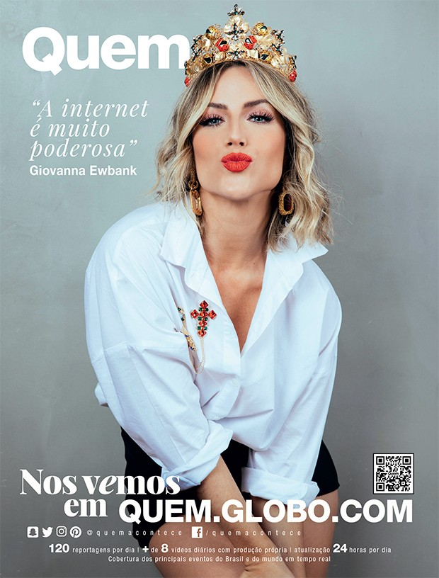 Giovanna Ewbank é capa da QUEM (Foto: Elvis Moreira/Ed. Globo)
