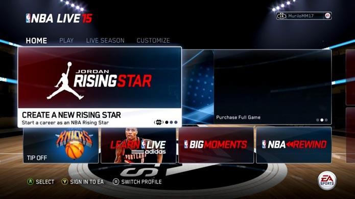 NBA Live 15: como criar seu próprio jogador no game (Foto: Reprodução/Murilo Molina)