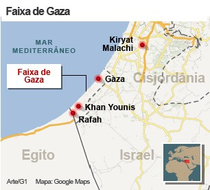 mapa gaza 15/11 (Foto: 1)