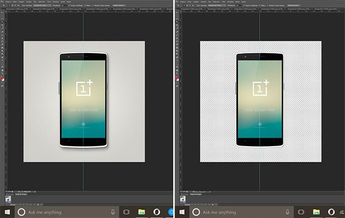 Ícone do Android pode ter plano de fundo transparente para destacar papel de parede (Foto: Reprodução/Elson de Souza)