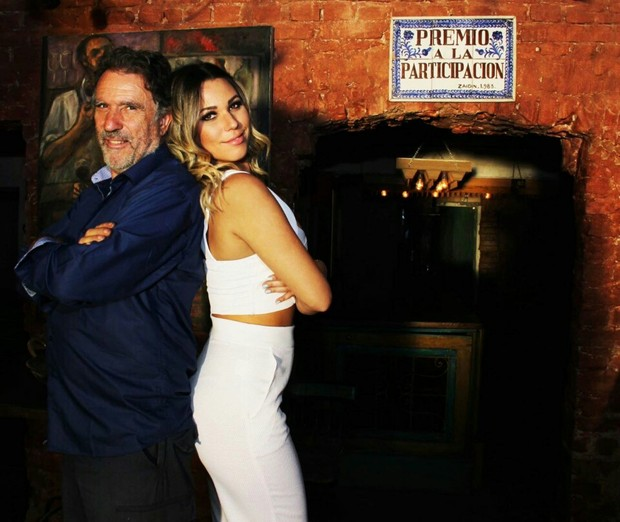 Marien Carretero com o pai, Carlos Carretero Genaro (Foto: Assessoria Thiago Santanna/Marcelle Facury/)