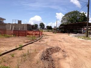 Obra prevê a construção de 4 reservatórios e um filtro de água (Foto: Fabíola Gomes G1/AP)