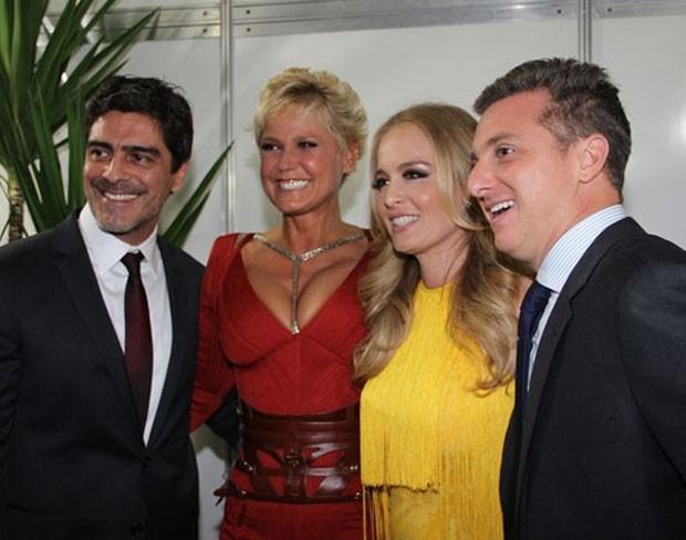 Junno Andrade, Xuxa, Angélica e Luciano Huck (Foto: TV Globo/Divulgação)