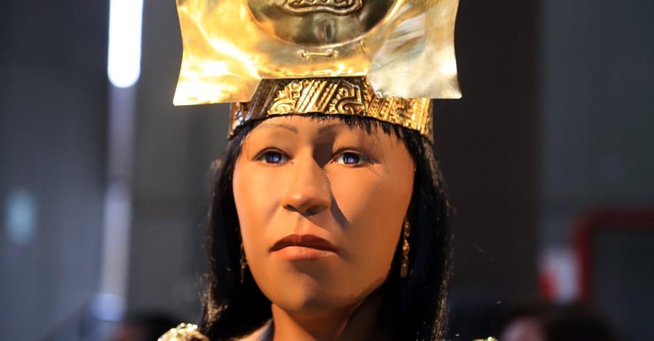 Reconstrução da face da Senhora de Cao, no Peru (Foto: Divulgação/ Flickr/ Ministerio de Cultura Perú)