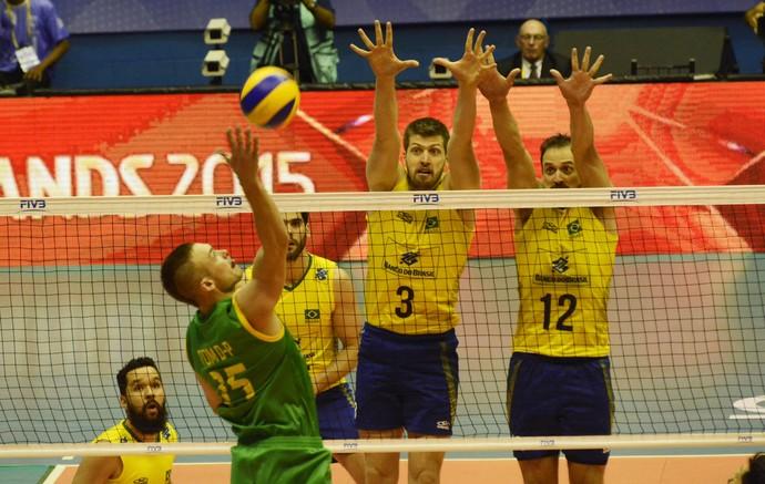 Brasil x Austrália Eder Lipe liga mundial de vôlei (Foto: Alexandre Arruda / CBV)