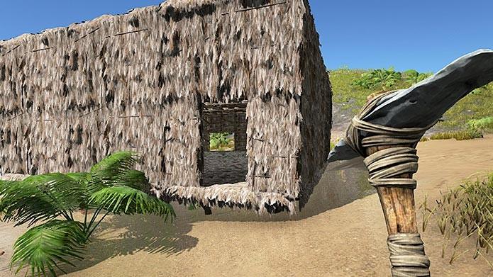 Para se proteger, é necessário construir casas e abrigos (Foto: Reprodução/Tais Carvalho)