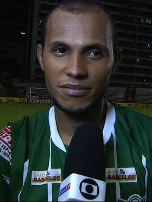 Jussimar fez o gol de honra do Lagarto (Foto: Reprodução/TV Sergipe)