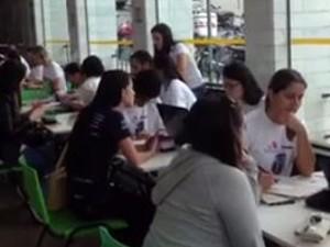 Mutirão de doadores de medula segue até as 18h deste sábado (11) em Poços de Caldas, MG (Foto: Nathália Assis/EPTV)