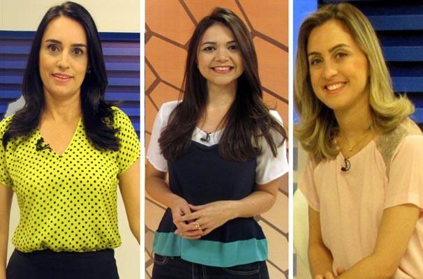 Neyara Pinheiro, Marcella Priscilla e Aline Moreira comandam a programação especial Dia da Mulher na TV Clube (Foto: Katylenin França)
