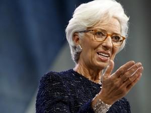 A diretora do FMI, Cristine Lagarde, durante encontro em Lima, Peru (Foto: REUTERS/Guadalupe Pardo)