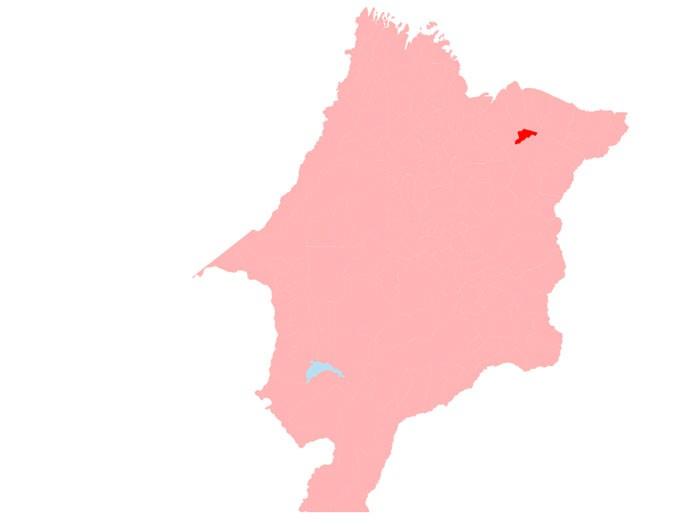 Dilma Rousseff conseguiu sua vitória mais folgada em Belágua, em destaque em vermelho