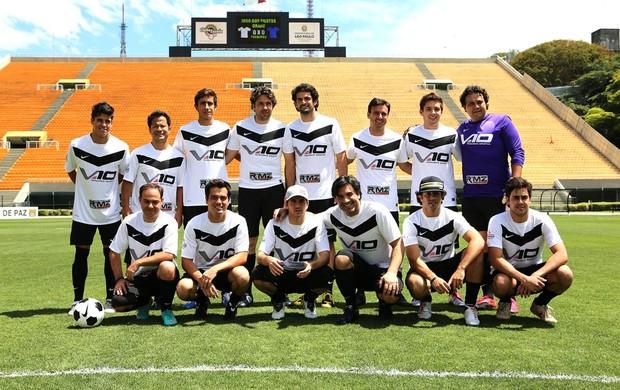 Futebol dos Pilotos (Foto: Felipe Siqueira / Globoesporte.com)