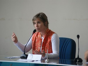 Ana Euler, diretora-presidente do Instituto Estadual de Florestas do Amapá (Foto: Marcelle Nunes/IEF)