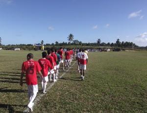 Entrada dos jogadores em campo tem cerimonial parecido com o da Champions original (Foto: Divulgação)