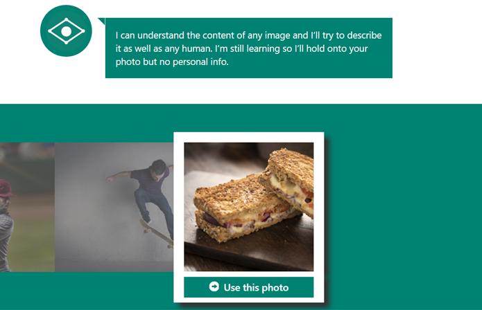 Se preferir, o usuário pode usar as imagens sugeridas pelo próprio CaptionBot (Foto: Reprodução/Filipe Garrett)