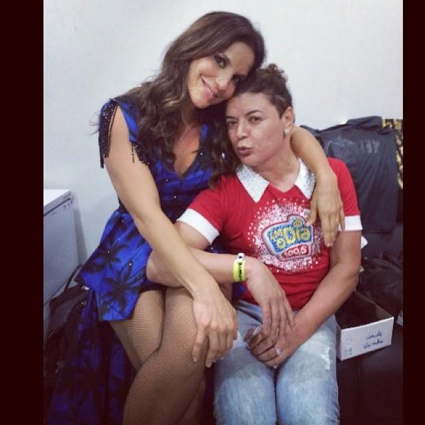 Ivete Sangalo e David Brazil em bastidores de show no Rio (Foto: Instagram/ Reprodução)