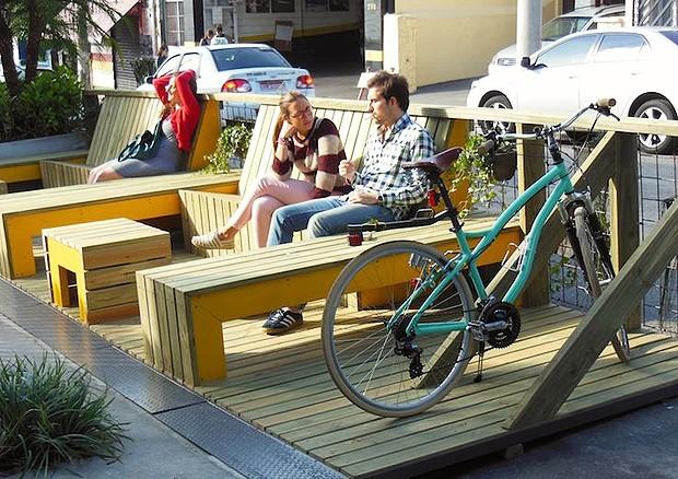 Parklet na Rua Fidalga - Vila Madalena - SP (Foto: Divulgação/Instituto Mobilidade Verde)