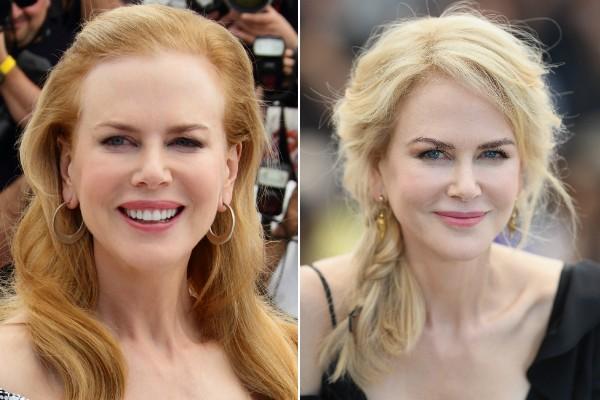 Nicole no festival em 2012 (esquerda) e no evento de 2017 (direita) (Foto: Getty Images)