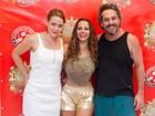 Leandra Leal, Viviane Araújo e Nero vão a feijoada do Salgueiro