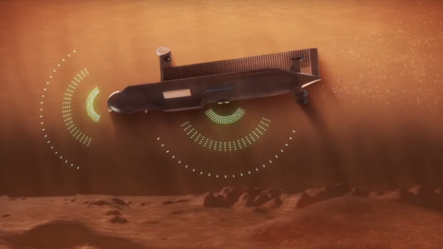 Simulação de um submarino em Titã (Foto: Nasa)