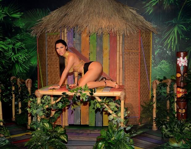Estátua de cera da cantora Nicki Minaj no museu Madame Tussauds em Las Vegas, EUA (Foto: Getty Images)