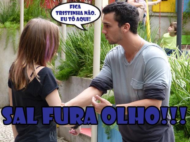 :( O Vitinho foi embora e a Lia ainda teve que aguentar gracinha do Sal AFF (Foto: Malhação / Tv Globo)