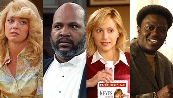 Lisa Robin Kelly, James Avery, Brittany Murphy e Bernie Mac (Foto: Divulgação)