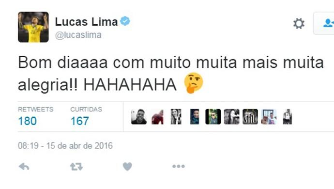 Lucas Lima (Foto: Reprodução / Twitter)