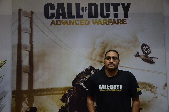 Mike Mejia conversou com o TechTudo sobre Call of Duty Advanced Warfare na BGS 2014 (Foto: Matheus Vasconcellos/ TechTudo)