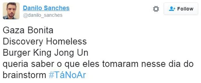 Tweet de @danilo_sanches (Foto: Reprodução/Internet)